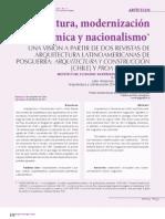Arquitectura Modernizacion Economia, Nacionalizacion - Chile y Colombia