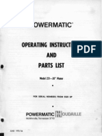 Power Ma Tic 221 Planer Manual 041212