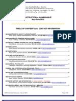 LAUSD DSI INSTRUCTIONAL COMMUNIQUÉ - MAY-JUNE 2012