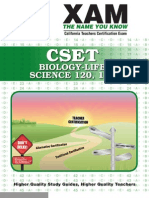 CSET Biology Life Science 120, 124