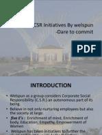 CSR Initiatives by Welspun FINAL