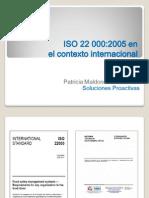 ISO 22000 en el ámbito internacional