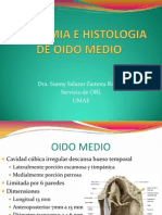Anatomia e Histologia de Oido Medio