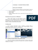 Manual de instalação Windows Mobile