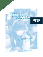 OMS Comunicacion Brotes Pandemia