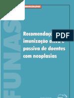 Recomendações para imunização ativa e passiva de doentes com neoplasias