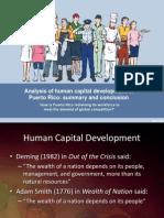 Analysis of Human Capital Development in Puerto Rico