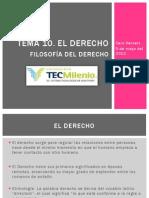 Tema 10 EL DERECHO