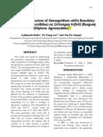 Population Parameters of Ganaspidium Utilis