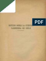 Estudio sobre la cuestión carbonera en Chile. (1924)