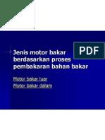 Jenis Motor Bakar Berdasarkan Proses Pembakaran Bahan Bakar