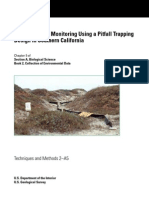 Herpetological Monitoring Using a Pitfall Trapping