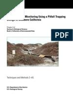 Herpetological Monitoring Using a Pitfall Trapping