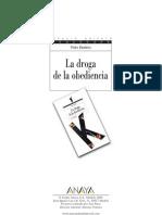 Droga de La Obediencia Pedro Bandeira 2008