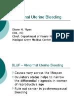 Flynn - Abnormal Uterine Bleeding Final 2007