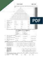 Matsat Stage 2 Sample Paper