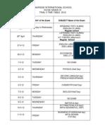 Trial II Timetable Ix Igcse11-12