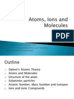 Atoms, Ions and Molecules