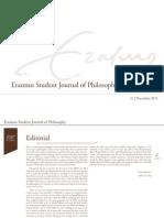Erasmus Student Journal of Philosophy #1 (December 2011)