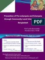 Shamsuddin_Prevention of PE E Including Community Level Intervention in Bangladesh