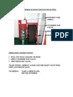 Fixed Powder Station Trunck Deck Fwd