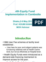 Kanal_MNH financing I Equity fund – Cambodia