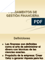 1.1 Fundamentos de Gestión Financiera