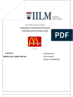 Fdi by Mc Donald Presented by Tarun Jhalani