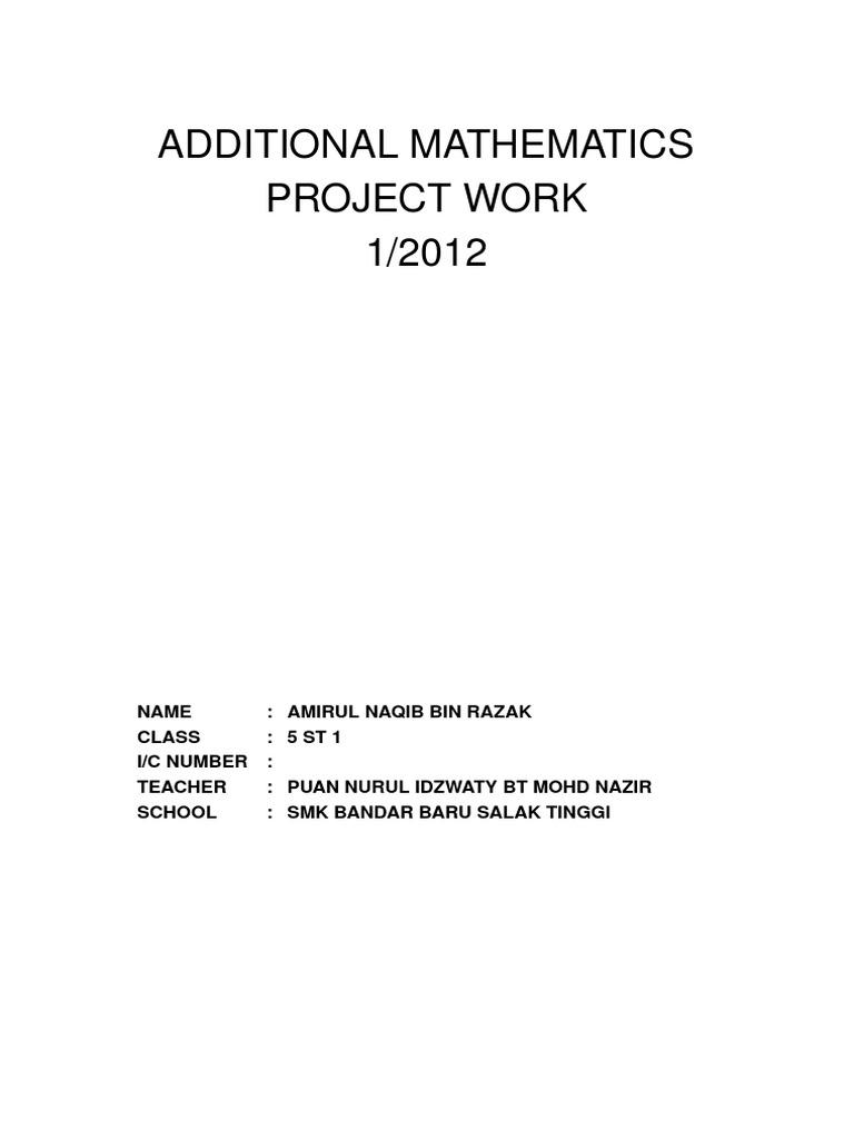 Additional Mathematics Project 2012 | Polygon | Geometry