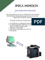 Konica Minolta Printer Setup Guide V1.11