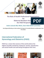 Lalonda_The Role of Health Professional Organizations for MNH the FIGO Perspective