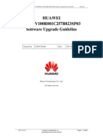 HUAWEI U8650 V100R001C257B823SP03 Software Upgrade Guideline