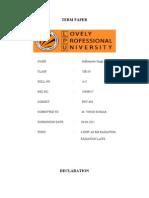 Final Term Paper