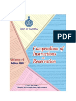 Compendium of Instructions(2009) on Reservation for Haryana Govt. employees - Naresh Kadyan