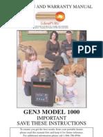 EdenPURE 1000 G3 Manual