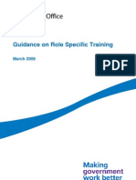 Role Specific Training