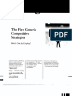 Five Generic Business Level Strategies Thompson Et Al Chap5