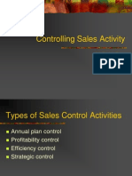 Controlling Sales Activity