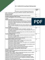 Assignment 1a Marking Criteria