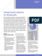 Energy Saving Solutions in Restaurant