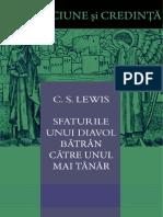 CS Lewis-SFATURILE UNUI DIAVOL BĂTRAN