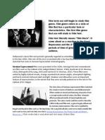 Film Noir Characteristics