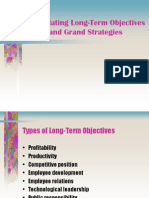 Formulating Long-Term Objectives and Grand Strategies