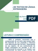 LEITURA DE TEXTOS EM LÍNGUA ESTRANGEIRA