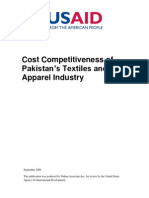 Pakistan Textiles and Apparel Cost Competitiveness