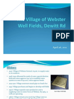Webster Village presentation on its well field , April 2012
