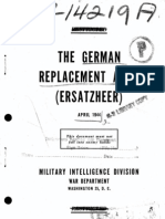 The German Replacement Army Ersatzheer USA 1944