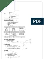 Maths IGCSE Quick Revision