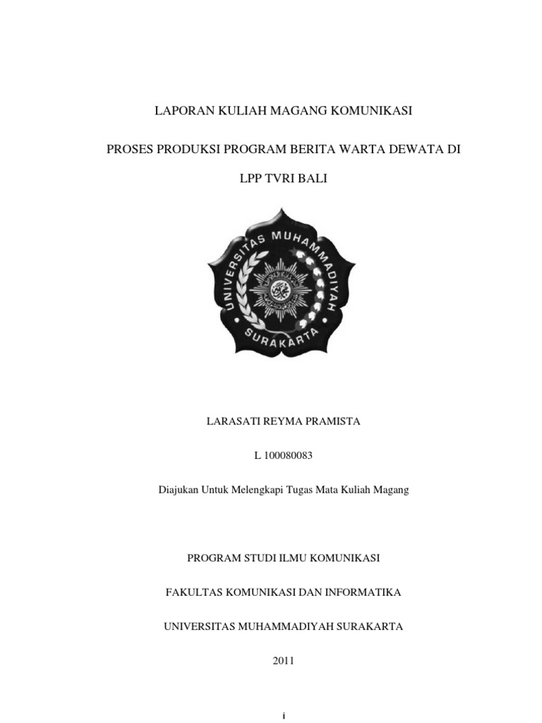 Cover Laporan Magang