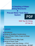 Design & Detailing of Water Retaining Structures & Pre Cast Water Tank Floor System